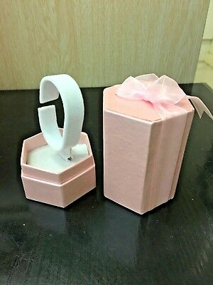 9 pink colour gift display boxes for watches or bangles