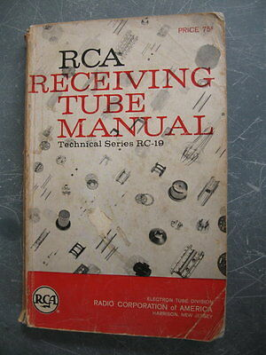 Vintage - RCA Receiving Tube manual - Technical Series RC-19,  USA 1959
