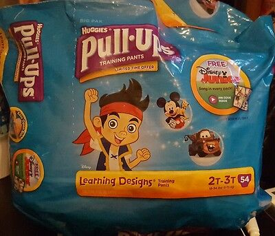Huggies pull ups Jake and The Neverland Pirates Cars Mickey Mouse 2t 3t 32 count