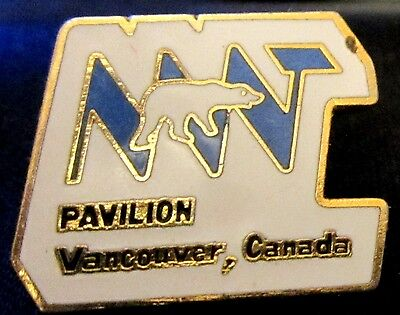 EXPO 86 NORTH WEST TERRITORIES PAVILION with POLAR BEAR WORLDS FAIR Pin Mint