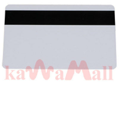 50X Glossy Blank Magnetic Stripe PVC ID Cards HiCo 1-3