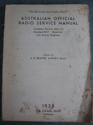 Vintage - Australian Official Radio Service Manual - 1938
