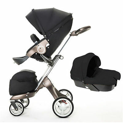 Baby stroller 3 in 1 folding light baby stroller high landscape baby carriage