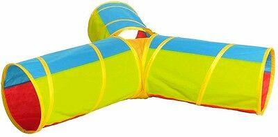 3 Way Pop-Up Play Tunnel Lightweight Easy Setup Indoors/Outdoors Durable