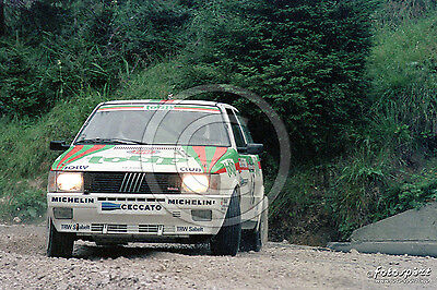 Foto Rally 20X30 Fiat Uno Turbo-Fiorio Rally Piancavallo 1986