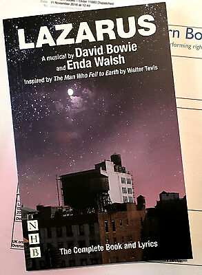 LAZARUS: The Complete Book & Lyrics by David Bowie & Enda Walsh SIGNED