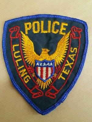 Luling, Texas Police Shoulder Patch Tx