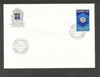 ICELAND - 1977 The 75th Anniversary of the Co-operative Movement  - F.D.C.