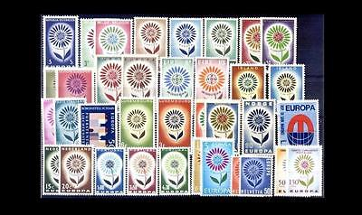 Cept Europa 1964 ** annata completa MNH year beautiful and complete 72,00