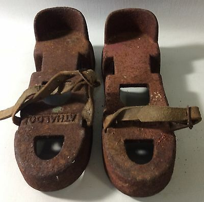 "Vintage/Antique ""Athaldo"" Cast Iron Diving Shoes"