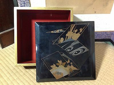 Japanese Old Wooden JUBAKO stacked Box (Single Box Only) - 24cm Sq.