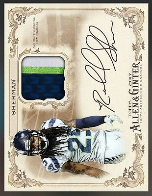 Topps Huddle - Allen & Ginter Signature Relic Sherman (Digital Trading Card)