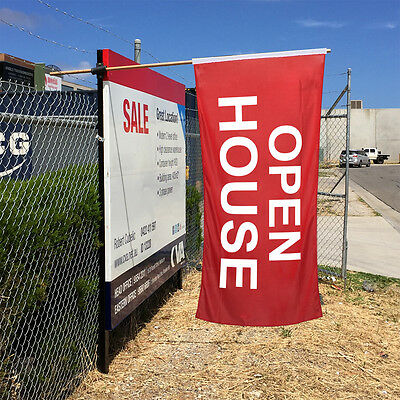 OPEN HOUSE Flag / Hanging Banner / Real Estate Advertising Flags - Ship Today!
