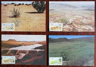 South Africa (RSA) 1989 'National Grazing' Set of 4 Maximum (Maxi) Cards