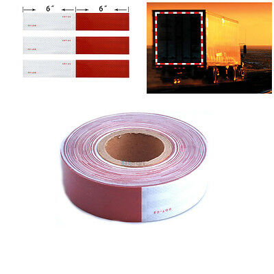 "2""x150' Dot-C2 Reflective Conspicuity Tape Safety Trailer Truck 6""red/6"" White"