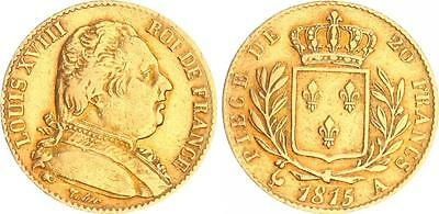 Louis d'or Gold 1815 Frankreich  Ludwig XVIII  ss