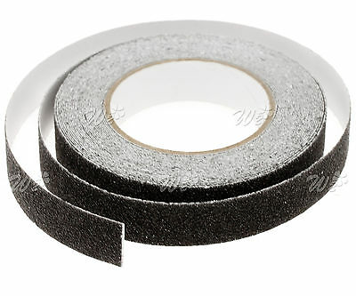 25mmx10M Conformable Black High Grip Anti Slip Non Slip Adhesive Backed Tape