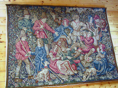 "A Stunning French Heavy Wool, Vedure Style Wall Hanging/Tapestry(68"" x 50.25"")"
