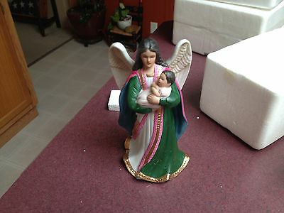 Homco Home Interior Angel with a Baby Porcelain Figurine #1436