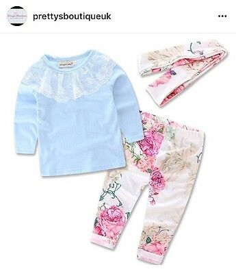 Girls Floral 3 Piece Set