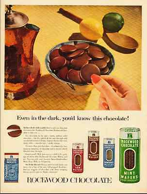 1950s vintage ad for CHOCOLATE MINT COOKIES, Rockwood-102712