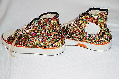 Vintage sequins sneakers, size 8.5-9, good condition