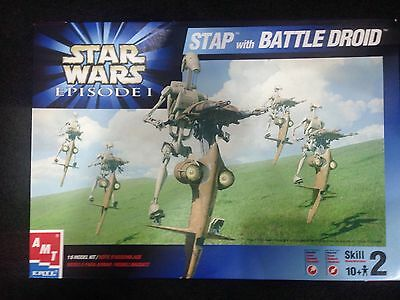 AMT ERTL Star Wars Stap With Battle Droid Model Kit 1/6 Scale