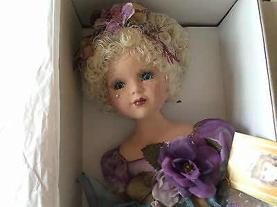 NEW,  CERTIFIED  ALBERON PORCELAIN  DOLL  'ISABELL'  boxed with Tags & Certified