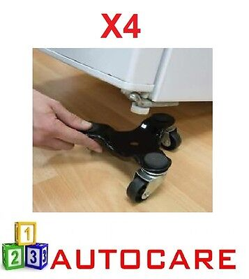 4x 3 Wheeled Furniture Moving Dolly 60 Kg Load