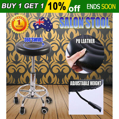 New Round Salon Stool Swivel Hairdressing Barber Chair Beauty Hydraulic Lift PU