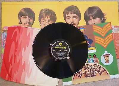 The Beatles - Sgt Peppers Lonely Hearts Club Band LP 1967 1st Press Mono  VG+