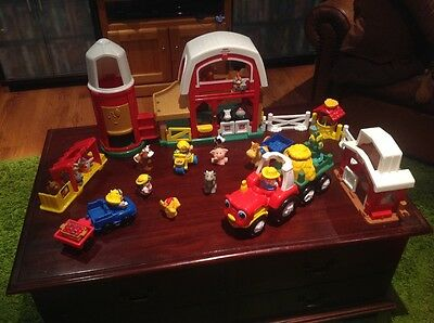Fisher Price Little People Farm Including Silo, Tractor, animals and people