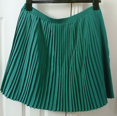 JOHNNIE B BODEN Emerald Green Pleated Skirt - Age 16+ Years - Christmas