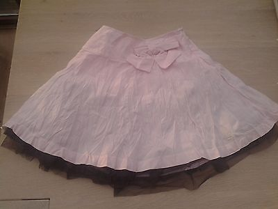 Brand new girl's pink & brown party skirt age 7 years