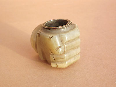 Chinese Jade Hand For A Pipe