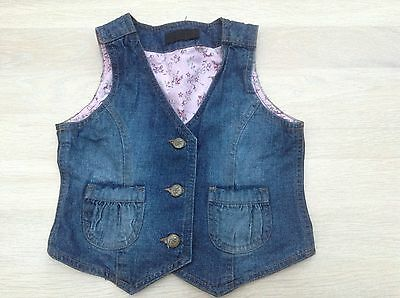 Brand new girl's denim Detroit summer waist coat age 3-4 years/ Eur 98-104