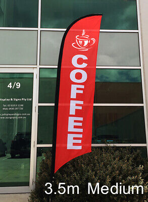 3.5m COFFEE Flag / Outdoor Flag / Advertising Flag Banner (Flag Only)