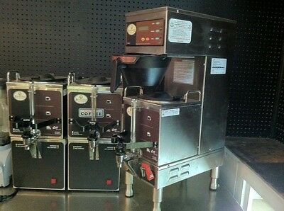 Curtis GEM-3, Commercial Coffee Brewer, Satellite Servers, Warming Stands combo