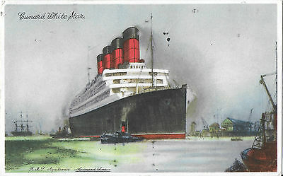 CUNARD WHITE STAR LINE R.M.S. AQUITANIA – Paquebot Posted 1935 from New York