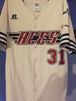 Darryl George Game Used Jersey Melbourne Aces ABL Australian Baseball League