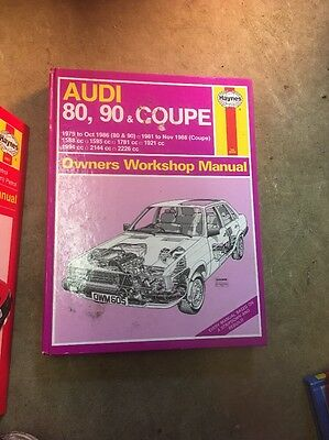 Haynes Audi 80,90 & Coupe Manual 79-88 Good Condition