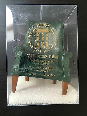 Dolls House Emporium Green Leather Porter's Chair