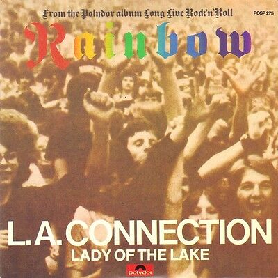 """Rainbow * L.a.connection * Lady Of The Lake * 7"""" Red - Vinyl - Single * Rarität!"""
