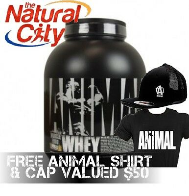Universal Nutrition Animal Whey 4lbs Gold Standard - FREE SHiRT & CAP Valued $50