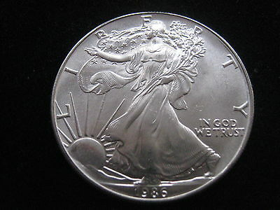 "Mds Usa One Dollar 1986 ""liberty - American Silver Eagle"", 1 Unze Silber  #7"