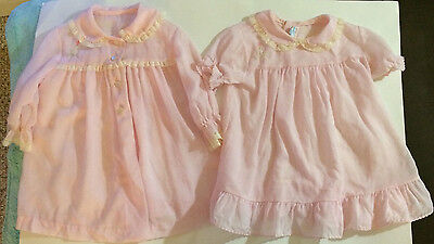 Vintage Pink Baby Girl Dress With Matching Coat Lord& Taylor