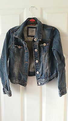 NEXT denim jacket girls blue Age 7 -8 years