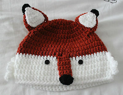 Handmade in crochet child age 1 2 3 years very cute fox hat and scarf