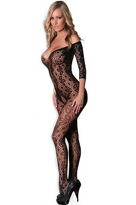 HIGH QUALITY Lace Floral Bodysuit BNWT Tights Catsuit Bodystocking Lingerie