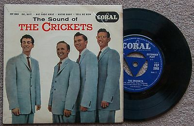 """7"""" vinyl EP - The Sound Of The Crickets 1958 - BUDDY HOLLY"""